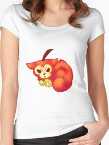 FRUIT CATS: Crab Apple Cat Women's Fitted Scoop T-Shirt