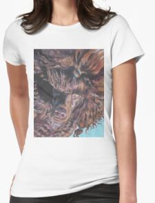 Poodle Fine Art Painting Womens Fitted T-Shirt