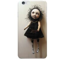 Wilma the goth flower girl - humor fantasy iphone case iPhone Case/Skin