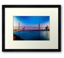 Talmadge Memorial Bridge Framed Print