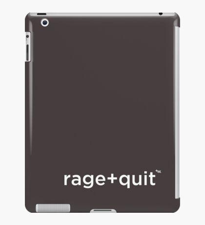 rage+quit by +Word. iPad Case/Skin