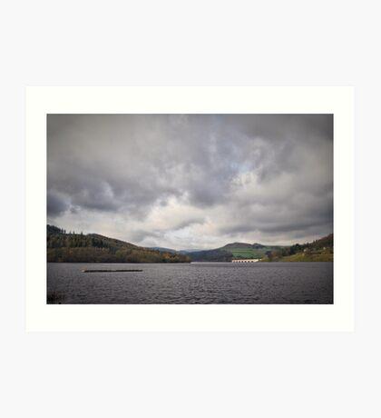 Ladybower Reservoir, Derbyshire, England. Art Print