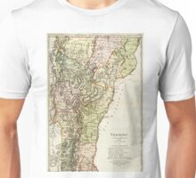 Vintage Map of Vermont (1797) Unisex T-Shirt