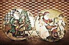 Happy Christmas (Double Santa) by Denise Abé