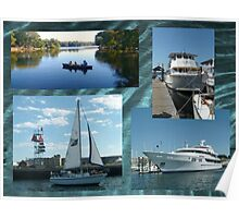 Mixture of Boats Collage Poster