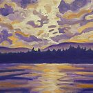 Okanagan Landscape in Purple and Hansa by Morgan Ralston