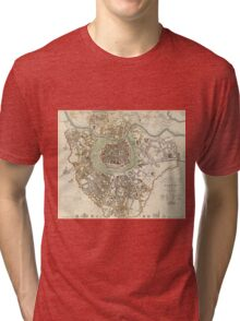 Vintage Map of Vienna Austria (1833) Tri-blend T-Shirt