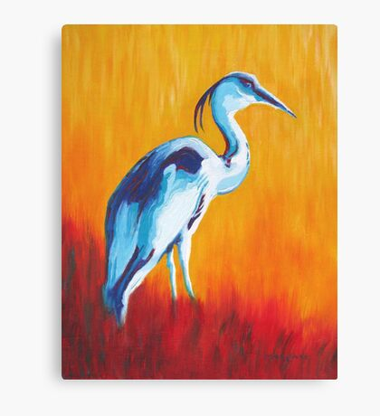 Watchful and Patient Blue Heron Canvas Print