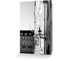 Tallinn BW. Greeting Card