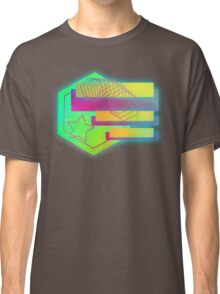 Retro-80s Abstracts With Stars Classic T-Shirt