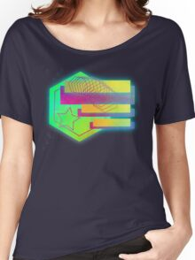 Retro-80s Abstracts With Stars Women's Relaxed Fit T-Shirt