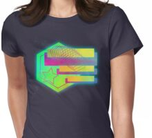 Retro-80s Abstracts With Stars Womens Fitted T-Shirt