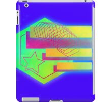 Retro-80s Abstracts With Stars iPad Case/Skin