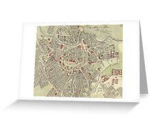 Vintage Map of Vienna Austria (1883) Greeting Card