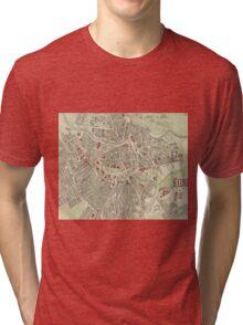 Vintage Map of Vienna Austria (1883) Tri-blend T-Shirt