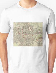 Vintage Map of Vienna Austria (1883) Unisex T-Shirt