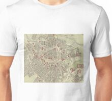 Vintage Map of Vienna Austria (1883) Unisex T-Shirt