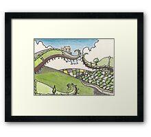 irish landscape Framed Print