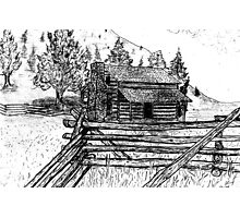 Country Cabin  Photographic Print