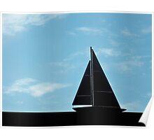 sailing under blue skies Poster