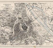 Vintage Map of Vienna Austria (1906) by BravuraMedia