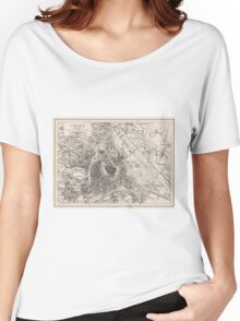 Vintage Map of Vienna Austria (1906) Women's Relaxed Fit T-Shirt