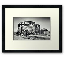 On blocks Framed Print