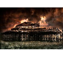 Storm Over The West Pier Photographic Print