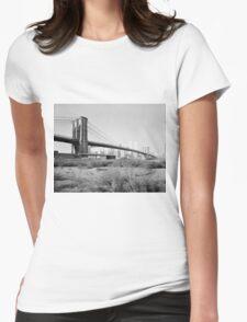 Brooklyn Bridge Photograph - 2 Womens Fitted T-Shirt
