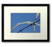 Razor Wire Framed Print