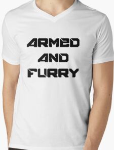 Armed and furry Mens V-Neck T-Shirt