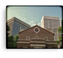 From South Main Street - Downtown Providence Canvas Print