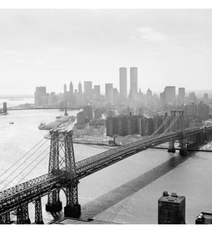 Photograph of NYC and The Williamsburg Bridge Sticker