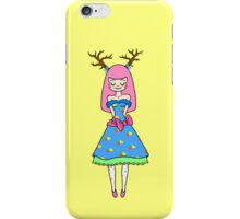 Cute Deer Girl iPhone Case/Skin