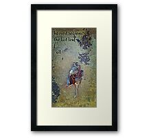 white-throated sparrow Framed Print
