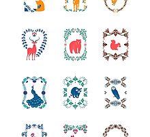 Minimal Folk Calendar  by Corinna Djaferis