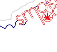 Smoke Local Weed in Kentucky Sticker