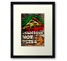 Delicious Hot Pizza  Framed Print