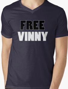Free Vinny Mens V-Neck T-Shirt