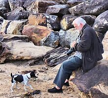 A man and his dog... by George Petrovsky
