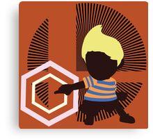 Lucas (Down Taunt, Blue/Orange) - Sunset Shores Canvas Print