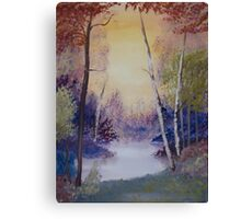 Lake with Trees Canvas Print