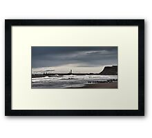 Whitby, west bay Framed Print