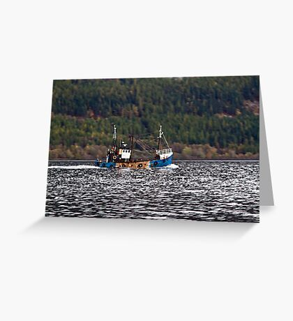 Loch Ness Fishing Greeting Card