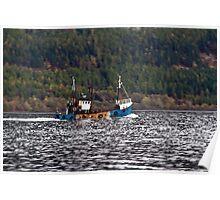 Loch Ness Fishing Poster