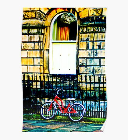 New Town bicycle Poster