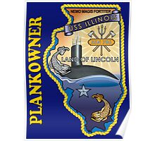 SSN-786 USS Illinois Plank Owner Crest for Dark Colors Poster