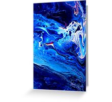 MEDITATION BLUE Greeting Card