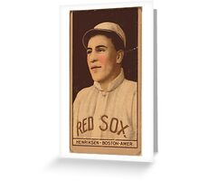 Benjamin K Edwards Collection Olaf Henriksen Boston Red Sox baseball card portrait Greeting Card
