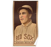 Benjamin K Edwards Collection Olaf Henriksen Boston Red Sox baseball card portrait Poster